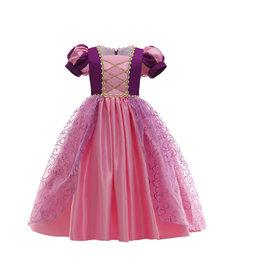 Rapunzel prinsessenjurk paars/roze