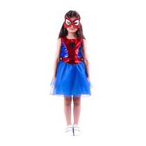 Het Betere Merk Spidergirl Supergirl verkleedjurk + masker maat S, M, L