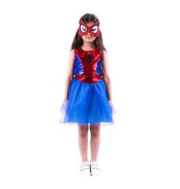 Het Betere Merk Spidergirl Supergirl verkleedjurk + masker