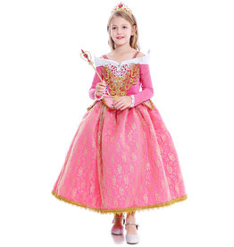 Het Betere Merk Aurora - Sleeping Beauty - Doornroosje - roze prinsessenjurk + Gratis Accessoires