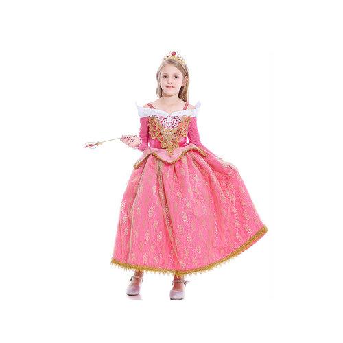 Het Betere Merk Aurora - Sleeping Beauty - Doornroosje - roze prinsessenjurk + Gratis Accessoires  maat 104/110, 110/116, 122/128, 134/140