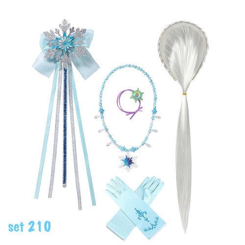 Frozen 2 Elsa verkleedjurk - cape  maat 104/110, 116/122, 122/128, 134/140, 146/152