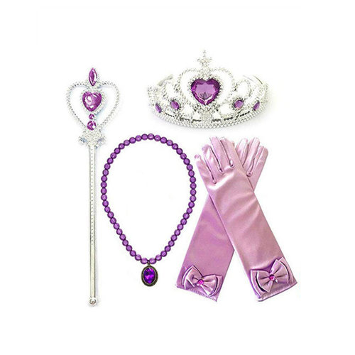 Het Betere Merk Rapunzel paars / roze jurk Deluxe maat 104/110, 116/122, 122/128, 134/140, 146/152