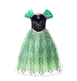 Frozen Anna groene verkleedjurk