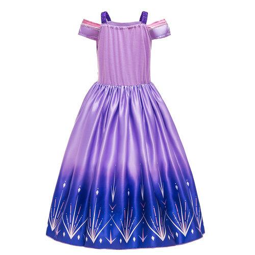 Het Betere Merk Frozen 2 Elsa Jurk - Prinsessenjurk Meisje - Gratis Handschoenen - Prinsessen verkleedkleding   Paars maat 104/110, 116/122, 122/128, 134/140, 146/152