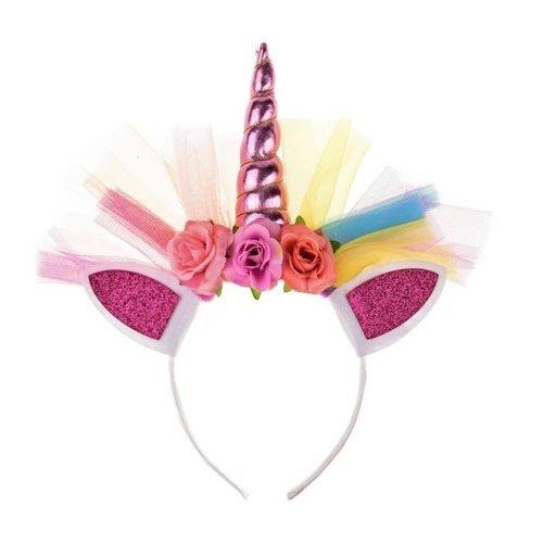 Het Betere Merk Unicorn Jurk - Eenhoorn Jurk - Roze - Gratis haarband  maat 104/110,  110/116, 122/128, 134/140