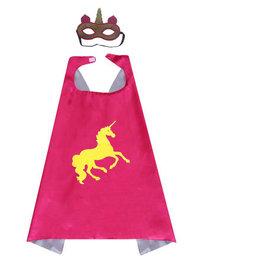 Unicorn roze  cape + masker