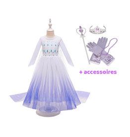 Frozen 2 Elsa jurk - cape - Deluxe verkleedjurk  + accessoires