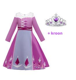 Het Betere Merk Frozen 2 Elsa roze / paarse verkleedjurk