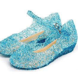 Elsa blauwe schoenen - Prinsessen schoenen