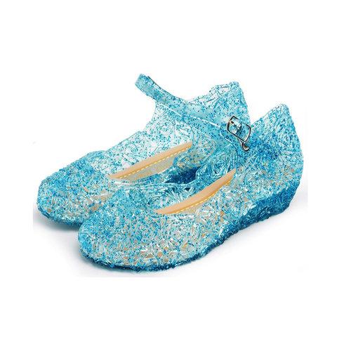 Elsa schoenen - Prinsessen schoenen - Verkleedschoenen | Blauw maat 25, 26, 27, 28, 29, 30, 31, 32, 33, 34, 35, 36, 37