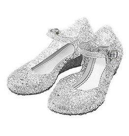 Elsa / Anna zilverkleurige schoenen - Prinsessen schoenen