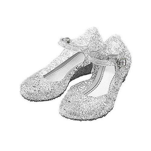 Elsa / Anna zilverkleurige schoenen - Prinsessen schoenen maat 25, 26, 27, 28, 29, 30, 31, 32, 33, 34, 35, 36, 37