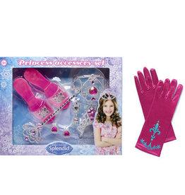 Prinsessen accessoireset + gratis 1 paar handschoenen