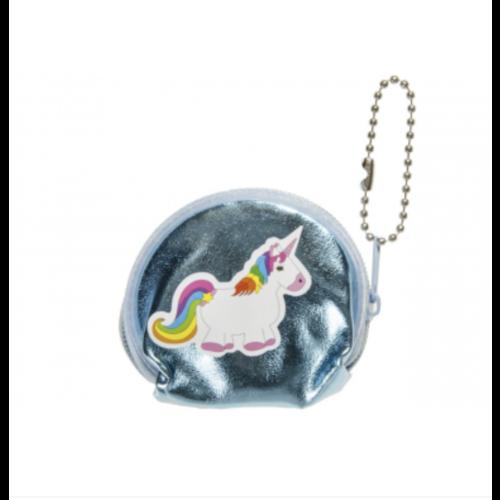 4 x Sleutelhanger Portemonnee Unicorn - uitdeelcadeautjes