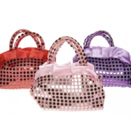 6 x Handtasje glitter - uitdeelcadeautjes - verjaardag