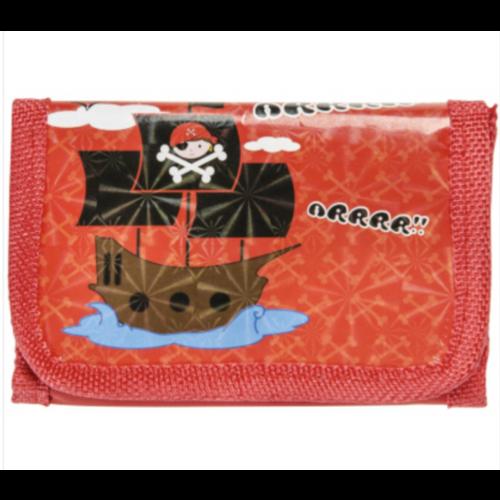 6 x piraten portemonnee - uitdeelcadeautjes - verjaardag