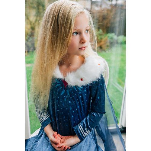 Het Betere Merk Frozen 2 Elsa blauwe jurk + Accessoires - Verkleedjurk - Verkleedkleding kind -Prinsessenjurk