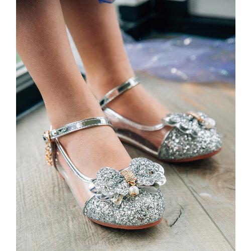 Het Betere Merk Elsa / Anna schoenen - Prinsessen schoenen - Verkleedschoenen | Zilver + Toverstaf + Kroon maat 26, 27, 28, 29, 30, 31, 32, 33, 34, 35