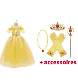 Het Betere Merk Prinsessenjurk  Belle -  Beauty and the Beast