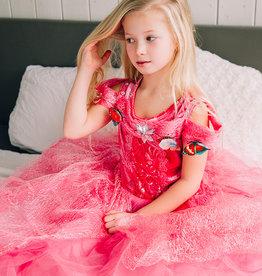 Het Betere Merk Assepoester roze prinsessenjurk vlinders + Gratis Accessoires