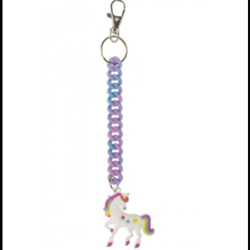6 x Sleutelhanger Eenhoorn / Unicorn  Spiraal - uitdeelcadeautjes
