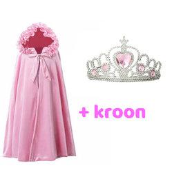 Het Betere Merk Roze prinsessen cape + Gratis tiara- Frozen