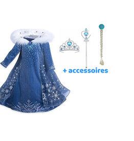 Het Betere Merk Frozen 2 Elsa jurk + Frozen Elsa vlecht, staf en kroon