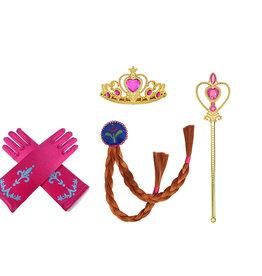 Frozen Anna 4-delig accessoires set