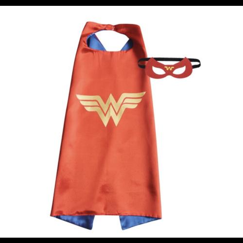 Wonder Woman cape + masker - one size - 3-9 jaar