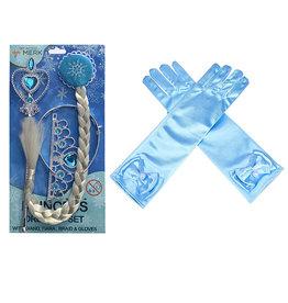 Frozen Elsa 4-delig accessoireset - prinsessenaccessoires