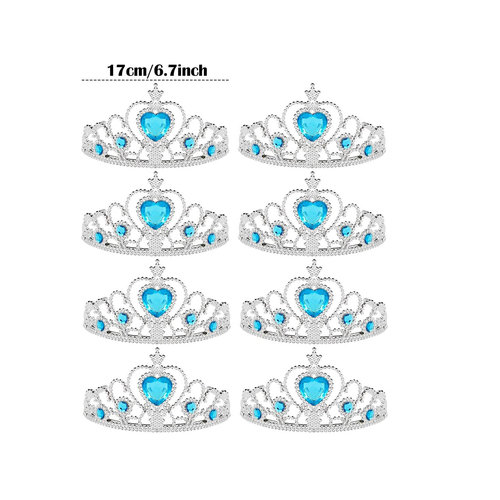 6 x Tiara / Kroon - uitdeelcadeautjes - verjaardag
