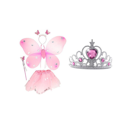 Toi-Toys prinses tutu, diadeem, vleugels, staf + Tiara