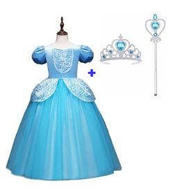 Het Betere Merk Cinderella - Assepoester - Deluxe verkleedjurk