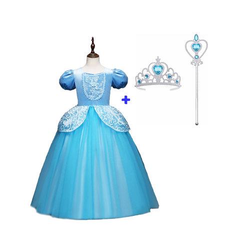Het Betere Merk Cinderella - Assepoester - Deluxe verkleedjurk maat 104/110, 110/116, 122/128, 134/140, 146/152