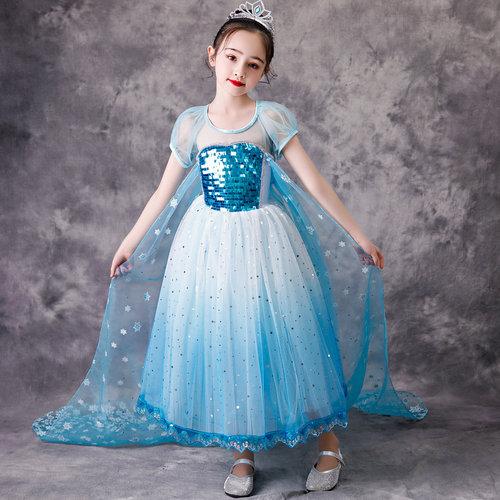 Het Betere Merk Frozen Elsa Blauwe Prinsessenjurk + Accessoires