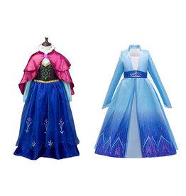 2-Pack-Frozen 2 Elsa Jurk + Anna Jurk