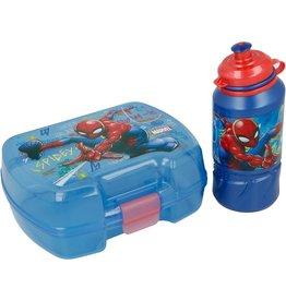 Marvel   Spiderman 2-delig lunchset + schoolset