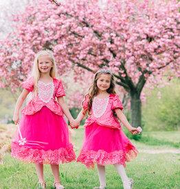 Cinderella - Roze prinsessenjurk - verkleedjurk + Gratis Accessoires