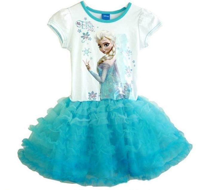 Frozen Elsa tutu zomerjurk met onderrok