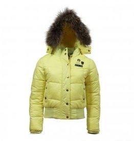 Nickelson Nickelson meisjes winterjas Amoen funky yellow