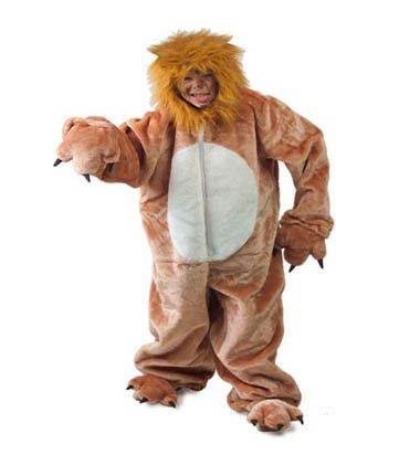 Dierenpak leeuw met capuchon Maat 116/128, 140/152