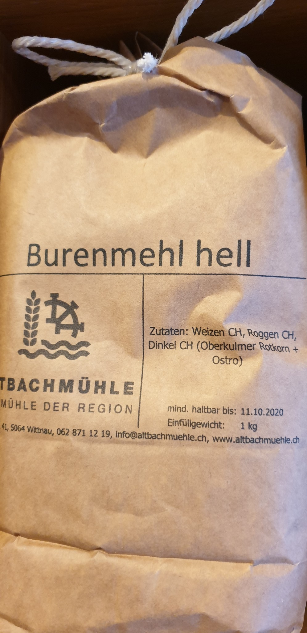 Altbachmühle Burenmehl hell 1kg Altbachmühle