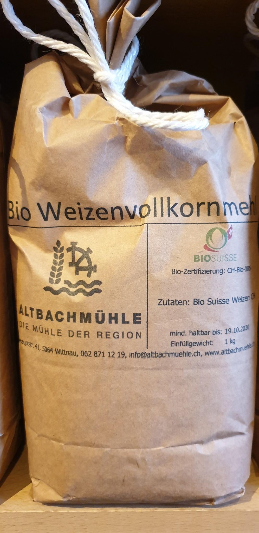Altbachmühle Weizenvollkornmehl bio 1kg Altbachmühle