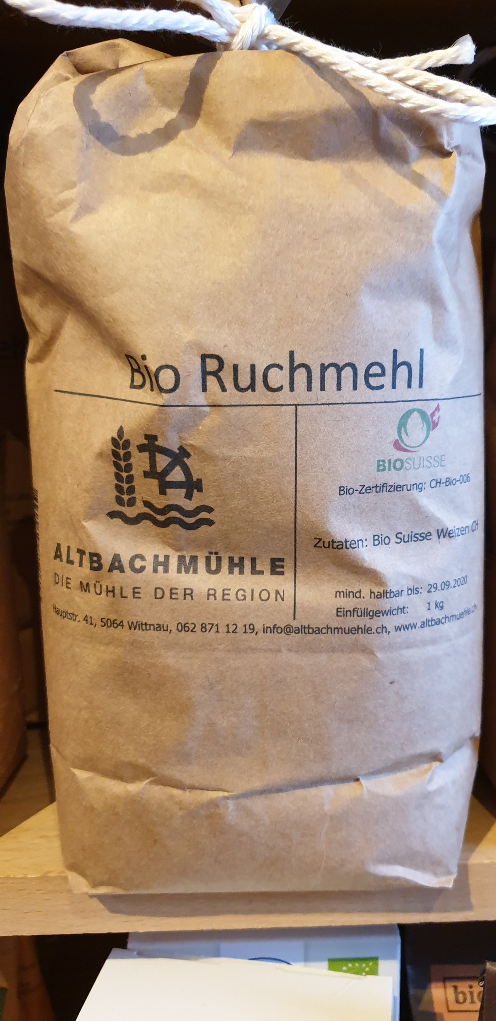 Altbachmühle Ruchmehl bio 1kg Altbachmühle