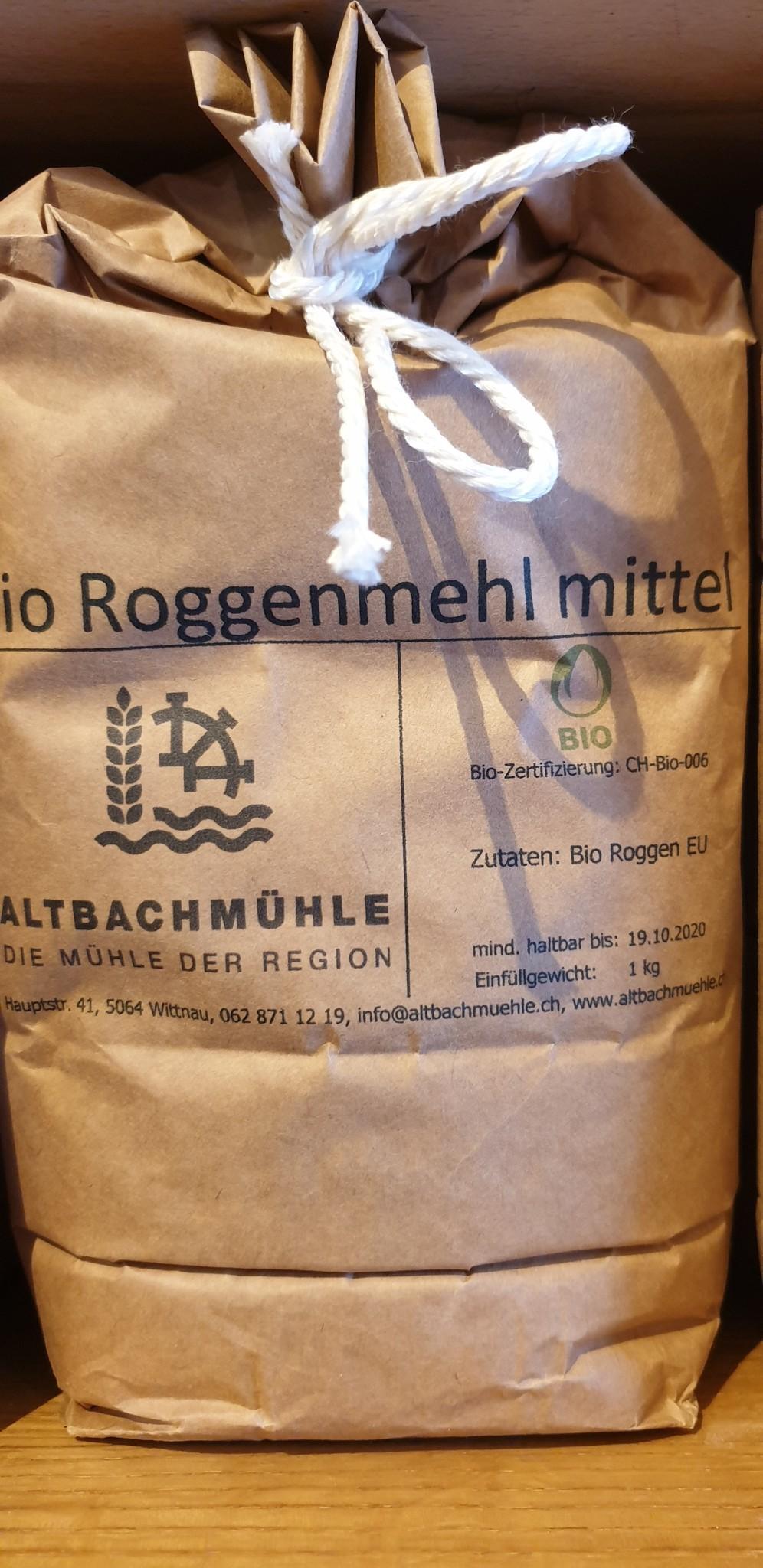 Altbachmühle Roggenmehl mittel bio 1kg Altbachmühle