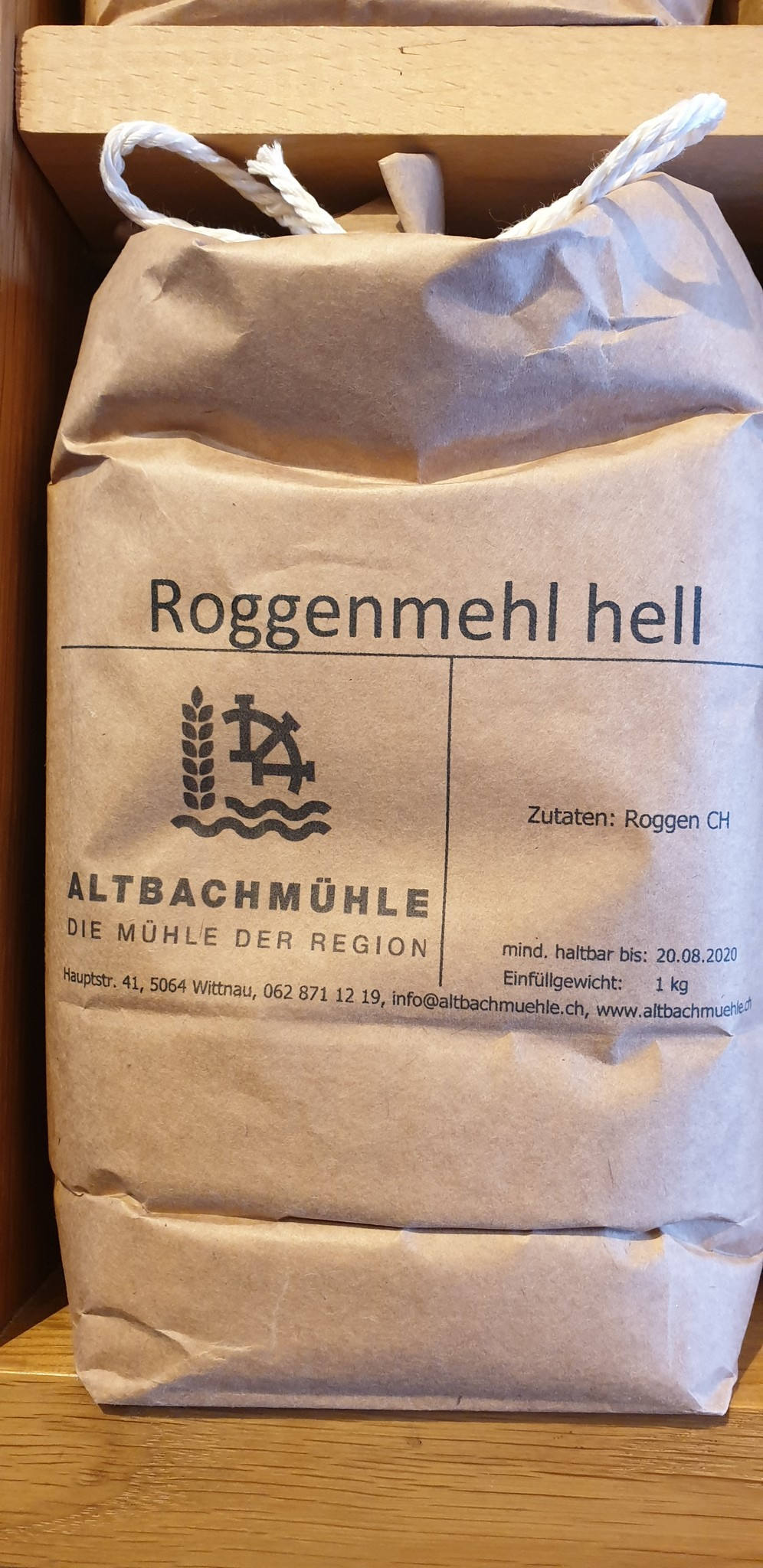 Altbachmühle Roggenmehl hell 1kg Altbachmühle
