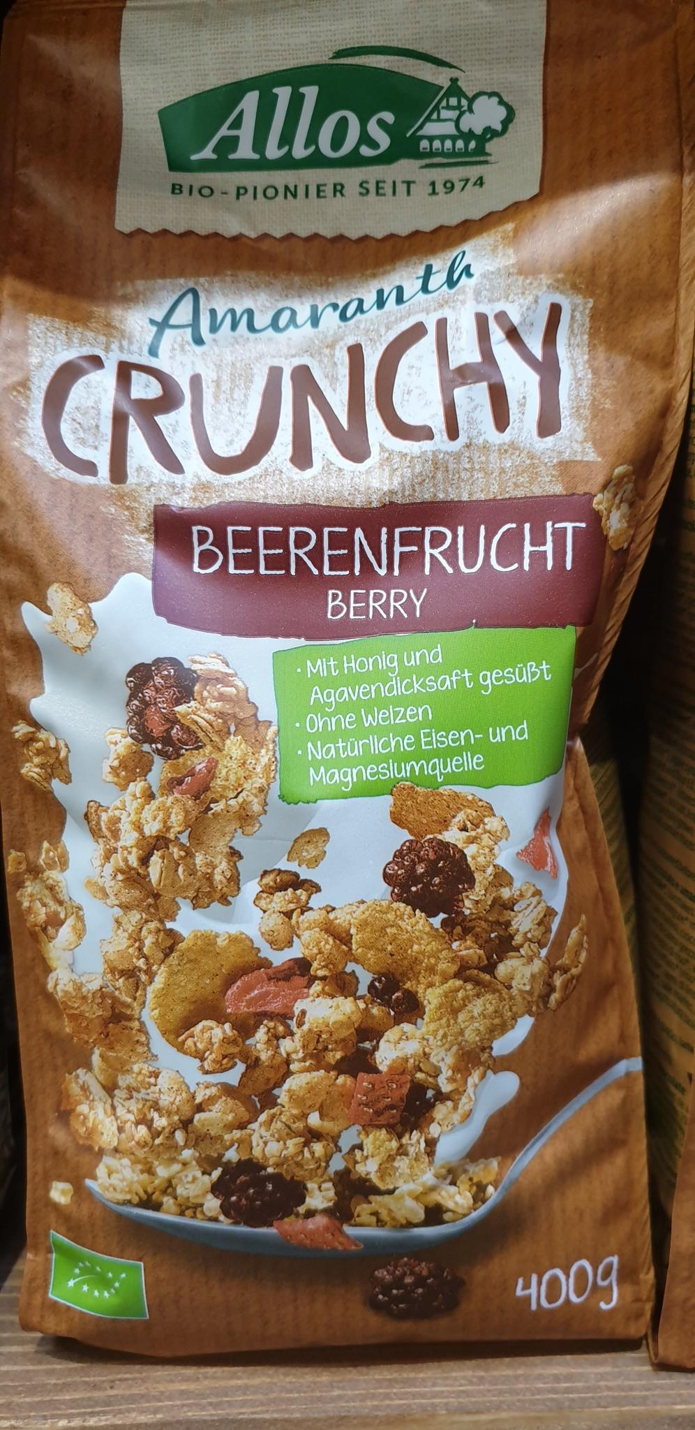 Allos Müsli Amaranth Crunchy Beerenfrucht bio Allos