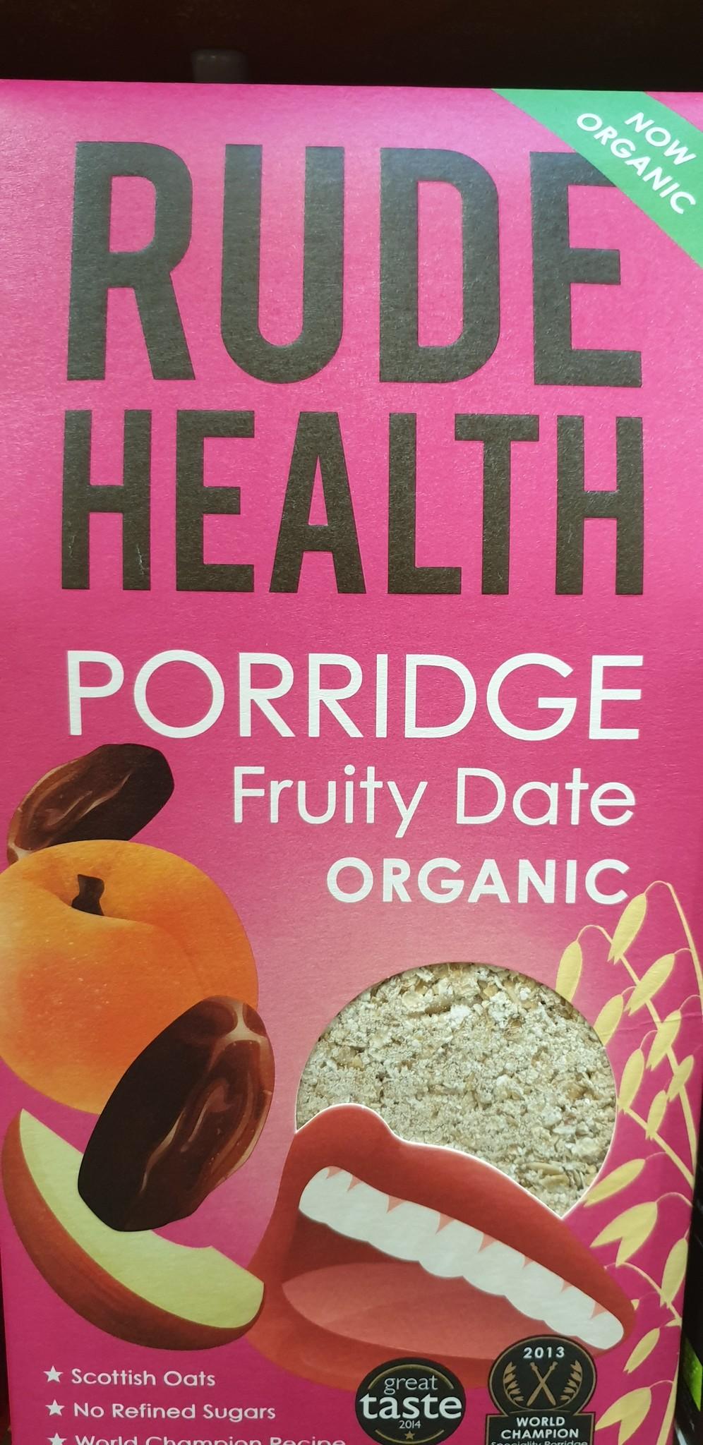 Rude Health Porridge Fruity Date bio Rude Health