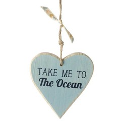 Heaven Sends Take Me To The Ocean Hanging Heart